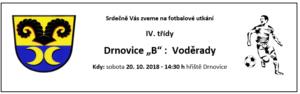 Pozvánka na fotbalové utkání, 20. 10. 2018